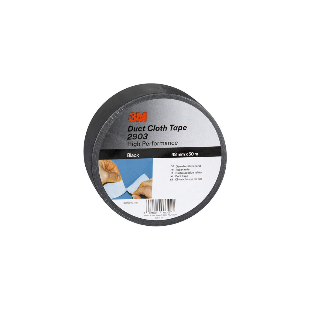 3m 290348b scotch duct tape 2000 50 mm 50 m zwart