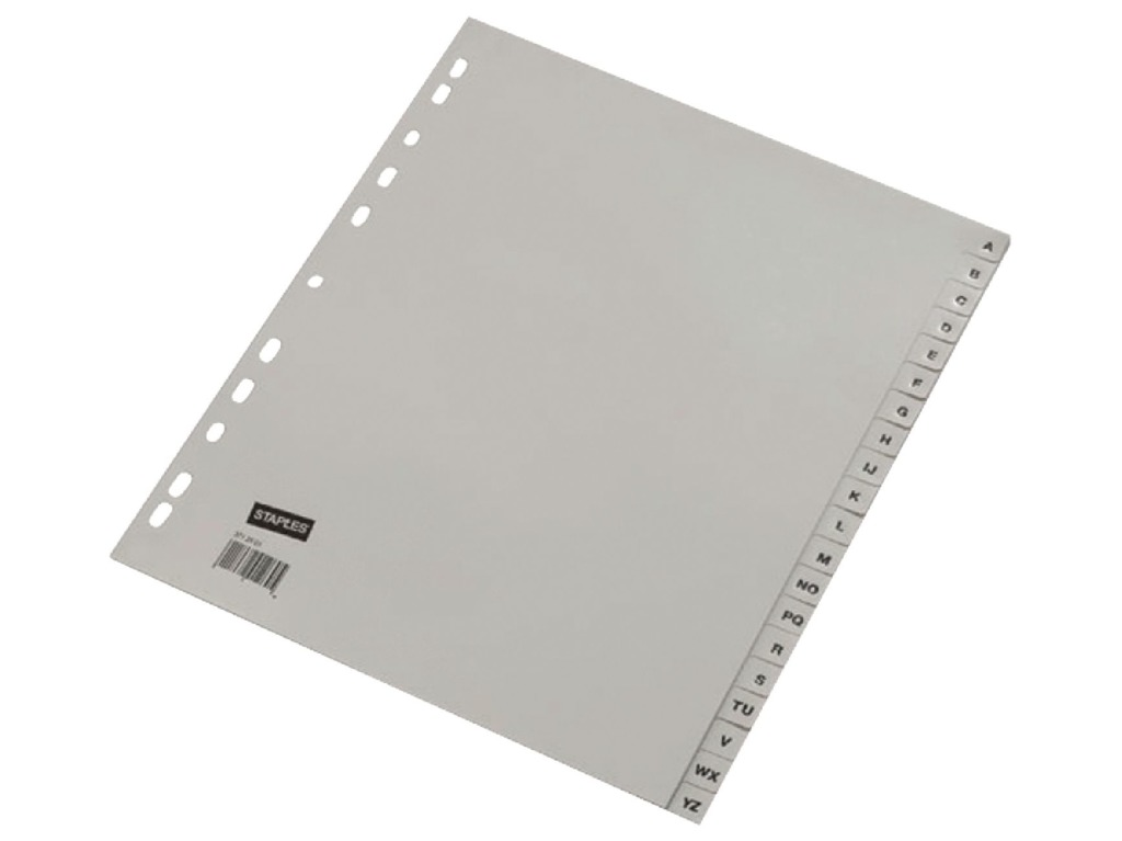 ahrend ofc-tab1 tabbladen a4 a - z grijs / set 20 stuks