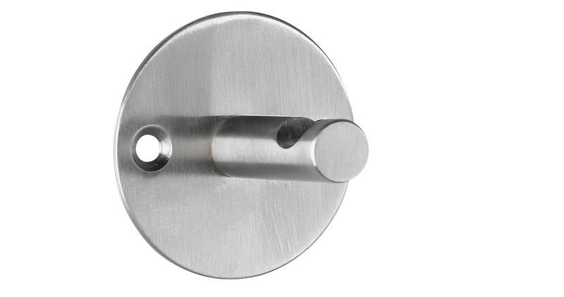 Alco AL-2847 Wandgarderobe Zilver 1 Haak Incl. Bevestigingsmateriaal