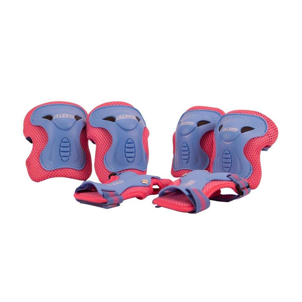 alert beschermset maat s 6-delig roze/paars