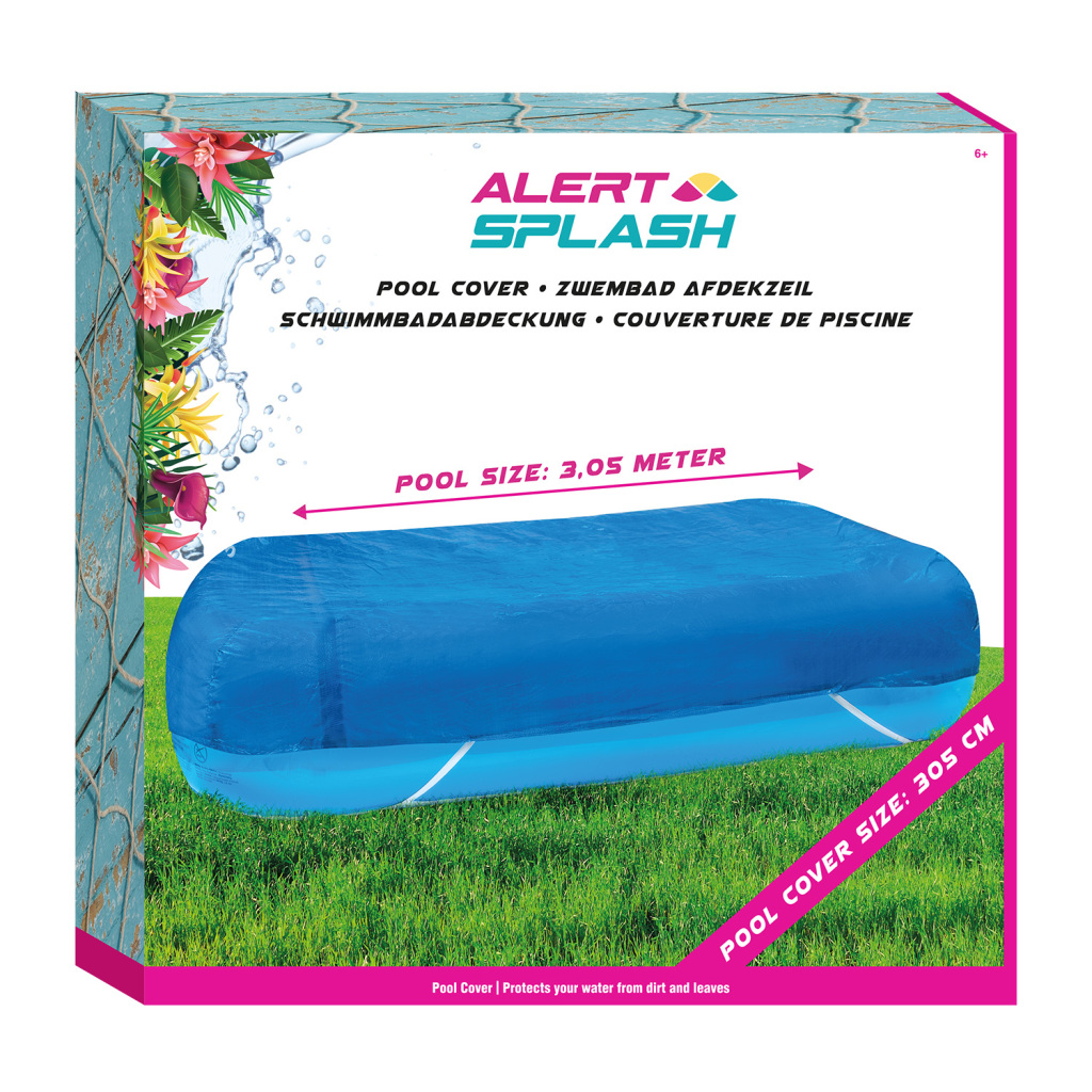 Alert Zwembad Afdekzeil 305x183x46 cm