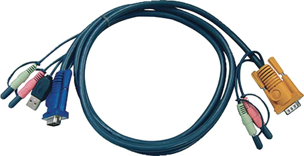aten 2l-5305u kvm special combination cable, vga/usb/audio