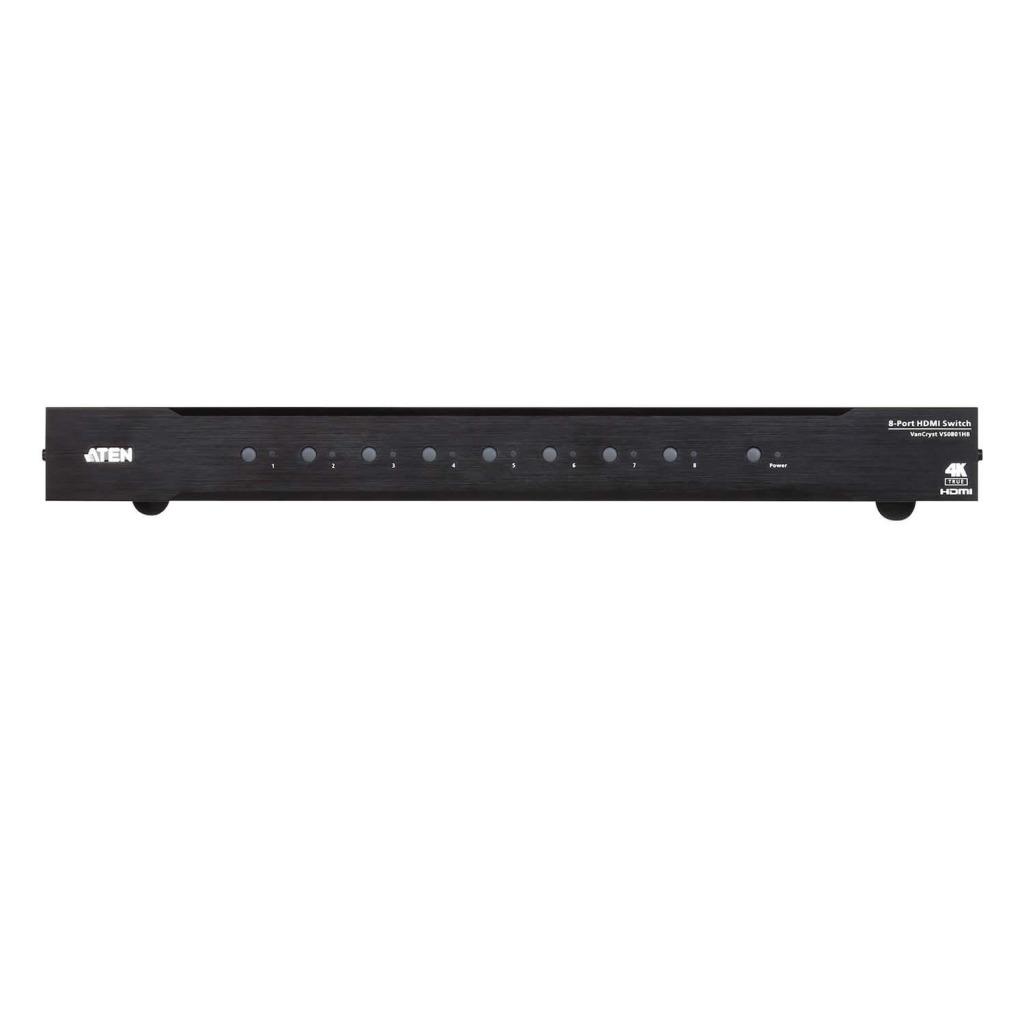 Aten VS481C-AT-G 4-poorts True 4k Hdmi Schakelaar Zwart