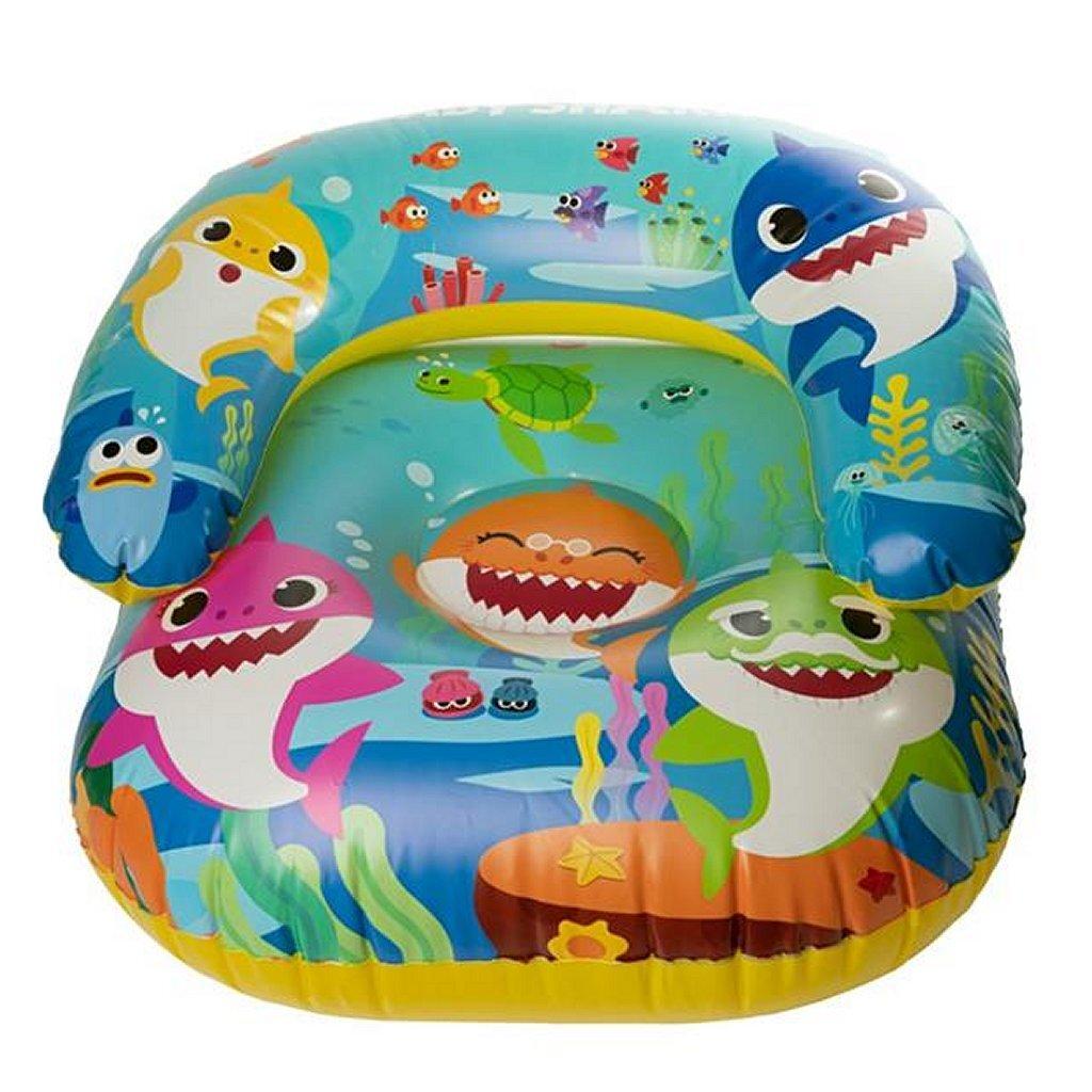 baby shark opblaasbare stoel 55x55x35 cm
