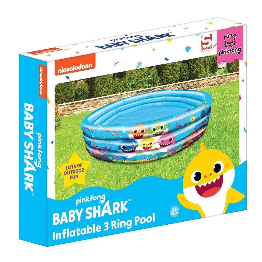 Baby Shark 3-Rings Zwembad 100 cm