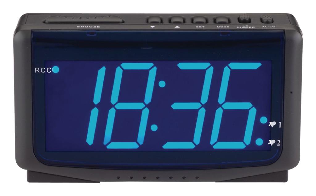 Balance  HE-CLOCK-65 Led-wekker Zendergestuurd