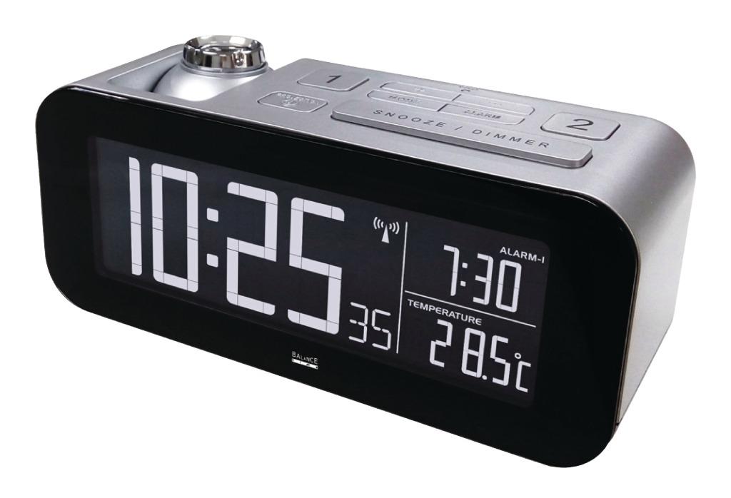 Balance Zendergestuurde Projectie Wekker LCD Zilver/Zwart