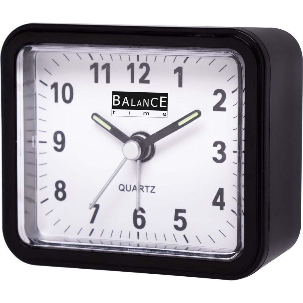 Balance 132879 Alarm Clock Analogue Black