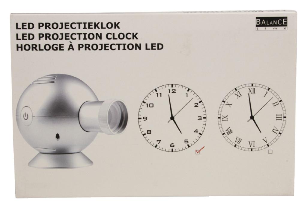 Balance HE-LPK10 Projectie Klok 14 cm Analoog Zilver