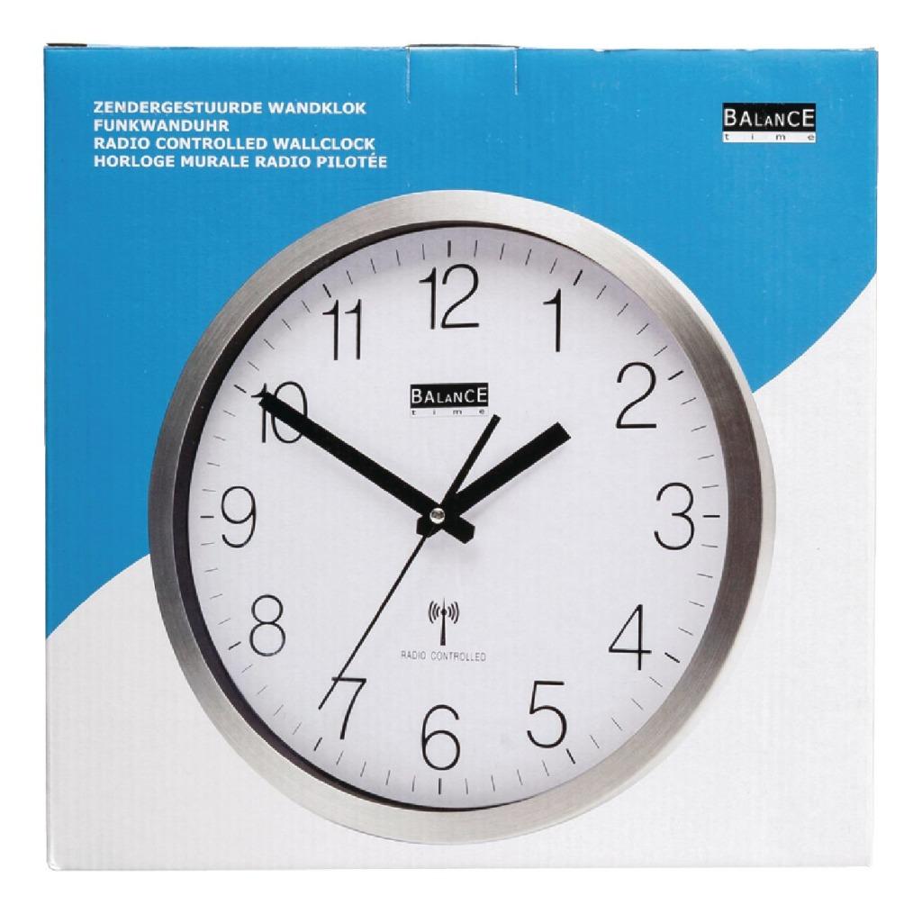 Balance HE-Clock-89 Aluminium Zendergestuurde Wandklok