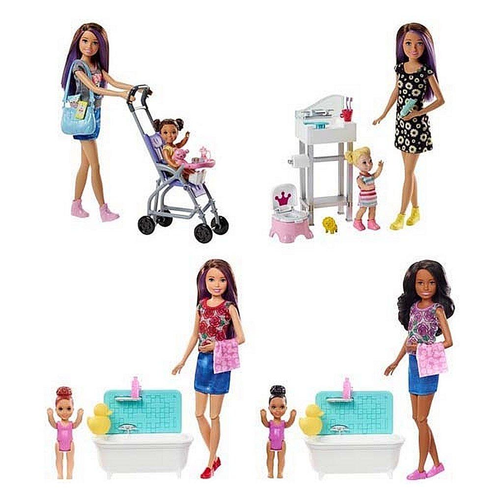 Barbie Skipper Babysitter Pop met Kind + Accessoires Assorti