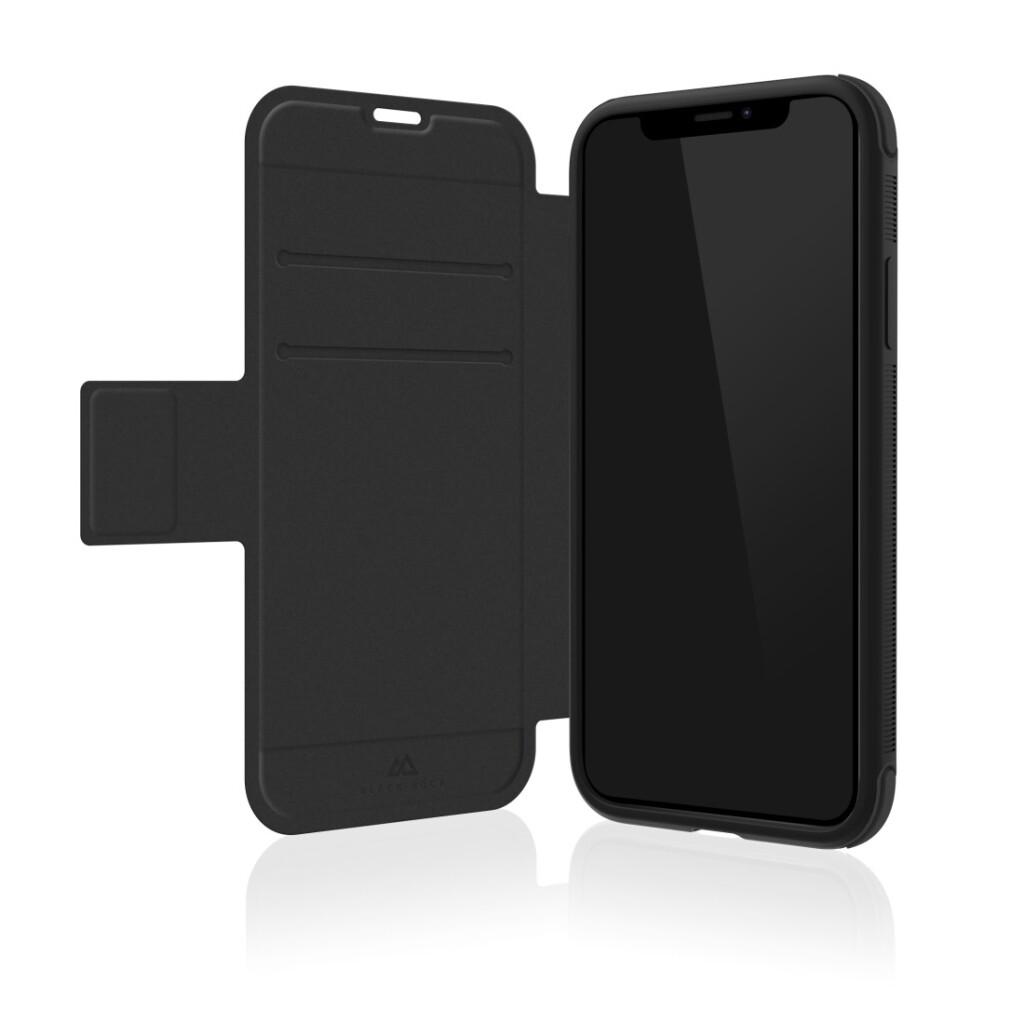 black rock booklet robust voor apple iphone xr zwart