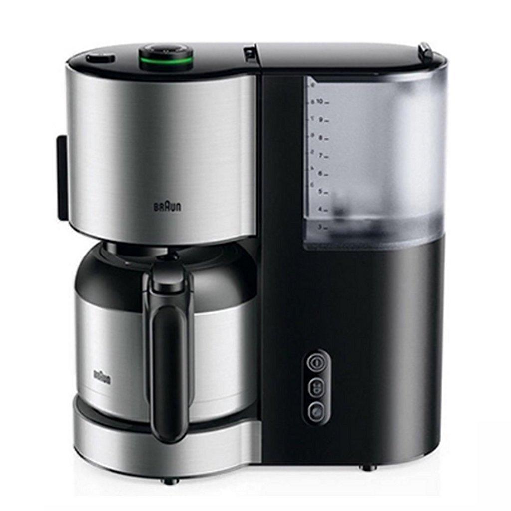 braun kf5105bk domestic home koffiemachine rvs/zwart