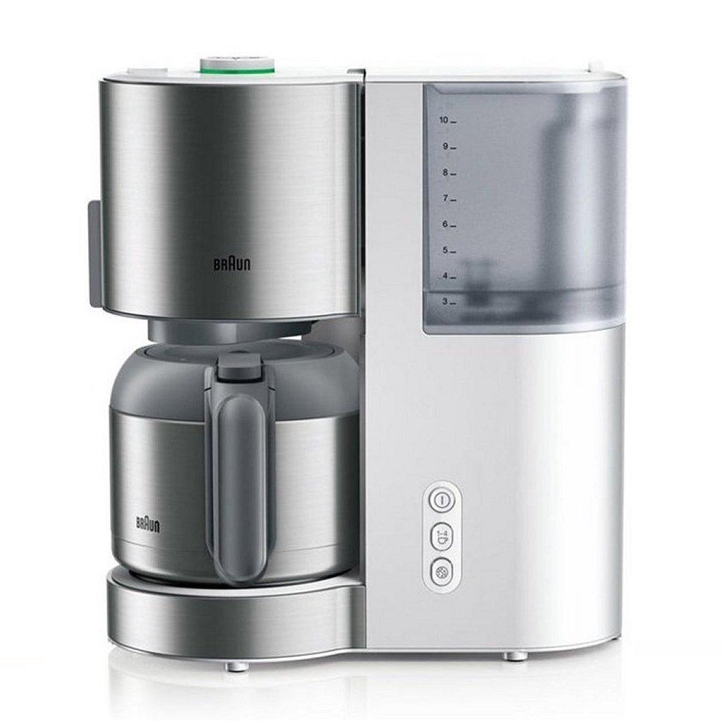 braun kf 5105wh domestic home koffiezetapparaat rvs/wit