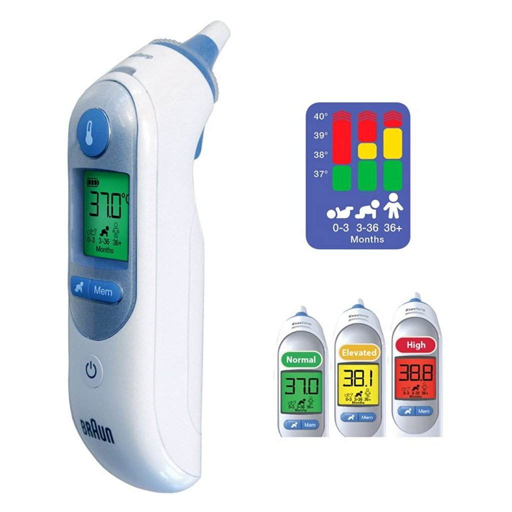 braun irt6520 thermoscan 7 thermometer wit/grijs
