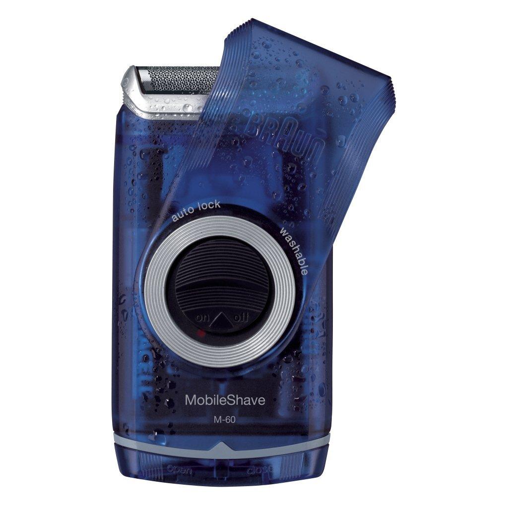 braun m-60b mobileshave scheerapparaat blauw/zilver