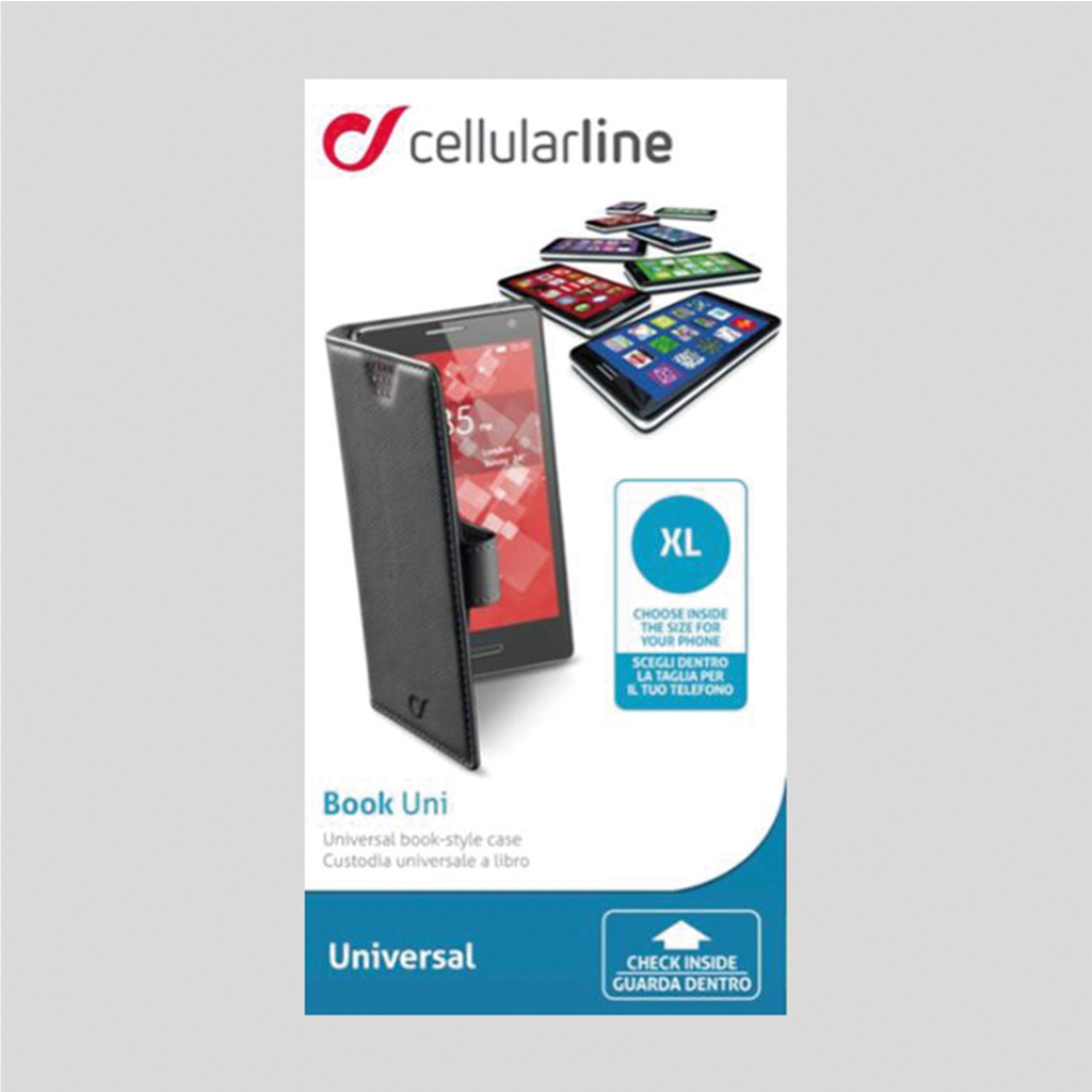 cellular line cell bookcase universeel zwart 4.2