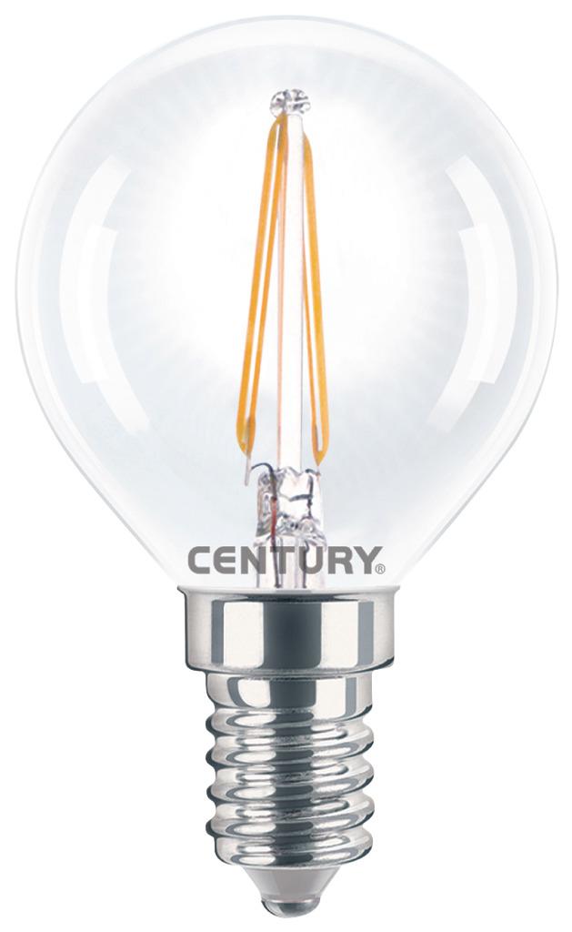 Century INH1G-041427 Filament Incanto Led Lamp Globe 4w E14 2700k 395 Lumen
