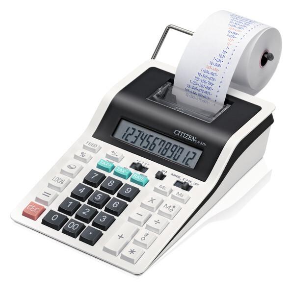 citizen ci-cx32n calculator printing cx32n desktop designline white/black