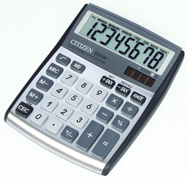 citizen ci-cdc80 calculator cdc80 c-series desktop designline silver