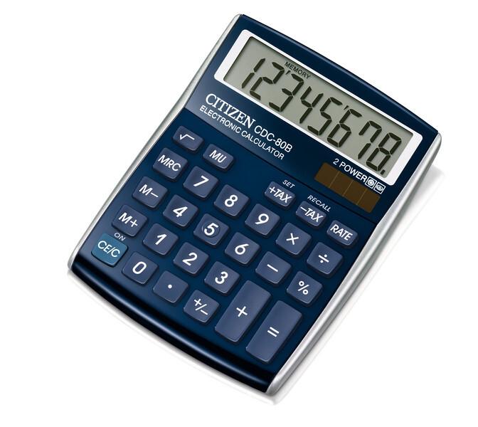 citizen ci-cdc80bl calculator cdc80bl c-series desktop designline blue
