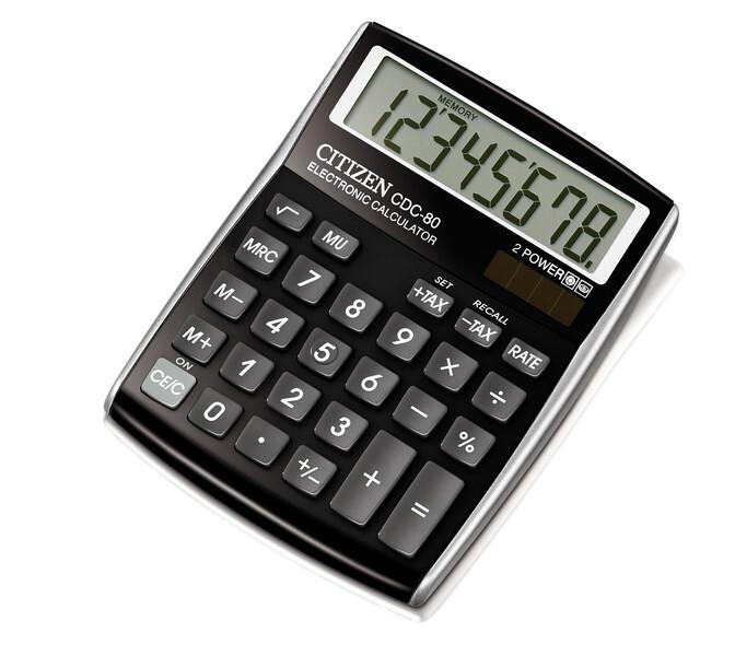 citizen ci-cdc80bk calculator cdc80bk c-series desktop designline black
