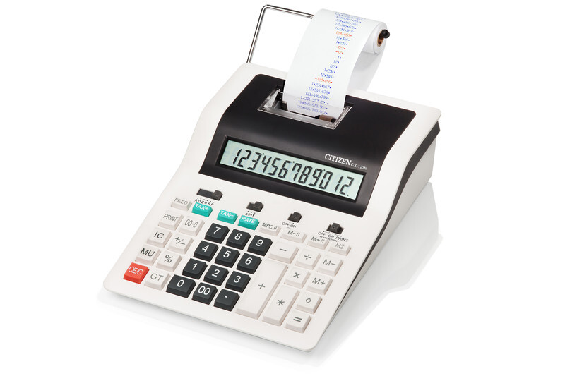 citizen ci-cx123n calculator printing cx123n desktop designline white/black