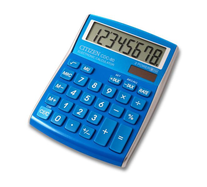 citizen ci-cdc80lb calculator cdc80lb c-series desktop colourline light blue