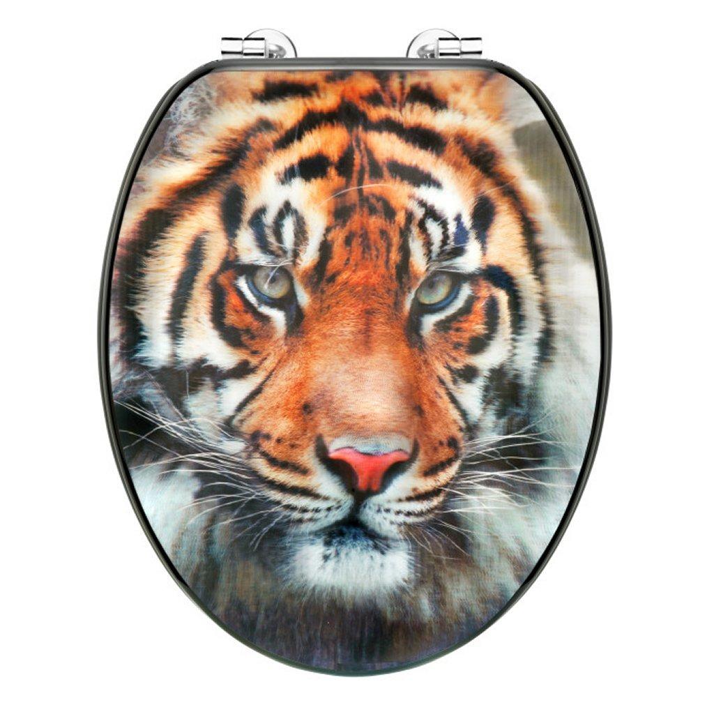 Cornat KSD707 3D Tiger Houten WC Bril 130-180mm