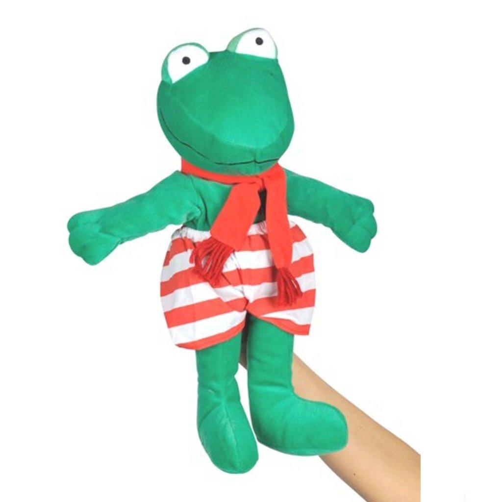 de wereld van kikker pluche handpop knuffel 40 cm
