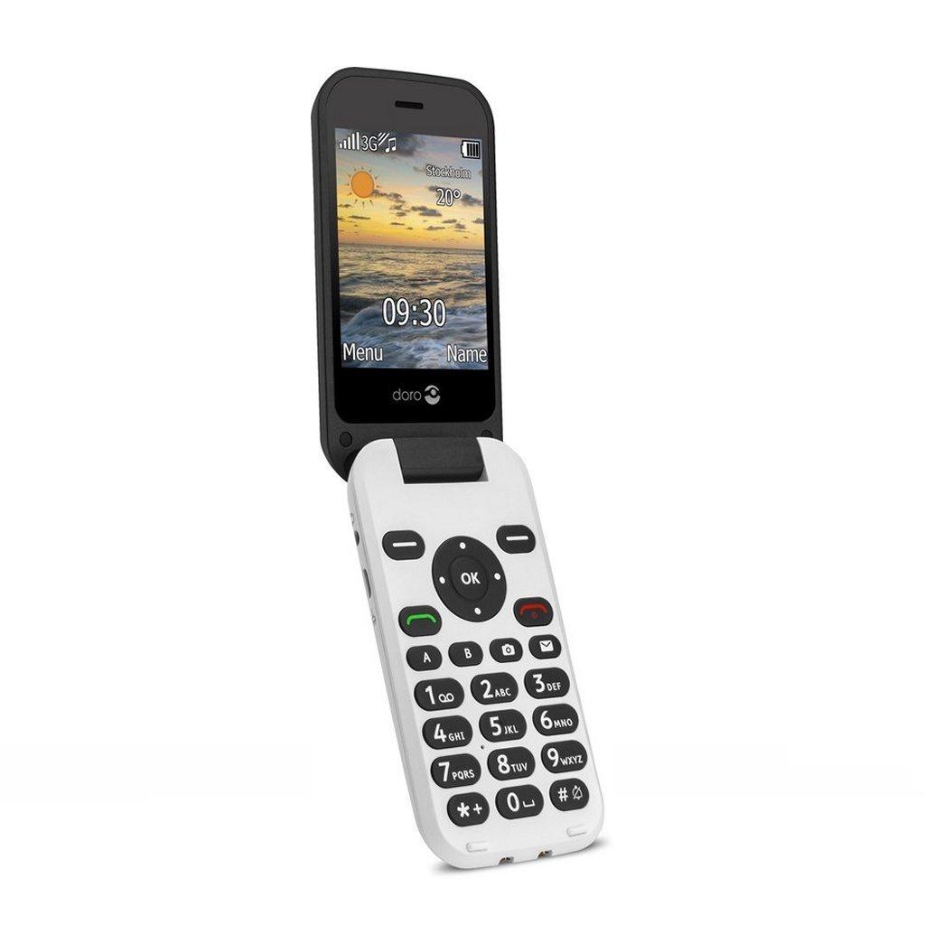 Doro 6620 Mobiele Telefoon Wit/Zwart