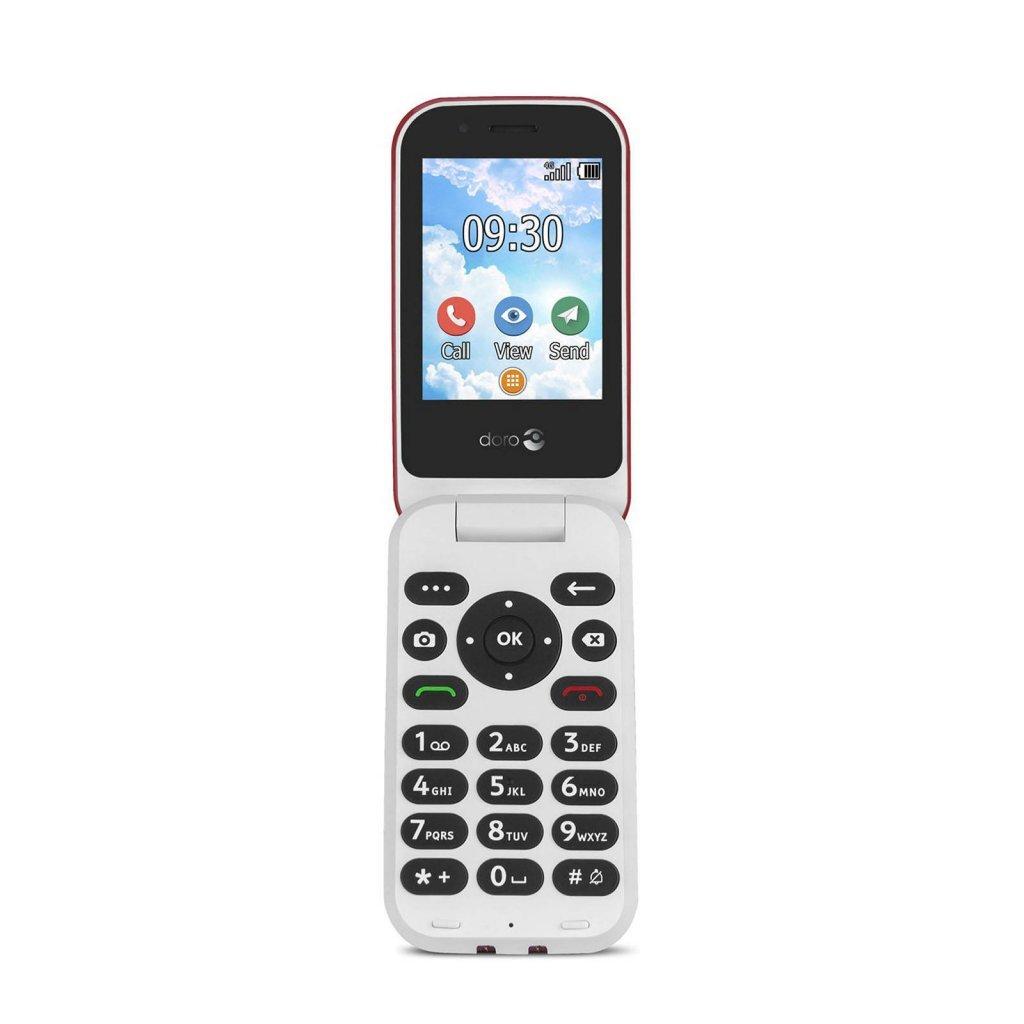 Doro 7030 Mobiele Telefoon + Alarmknop Rood/Wit