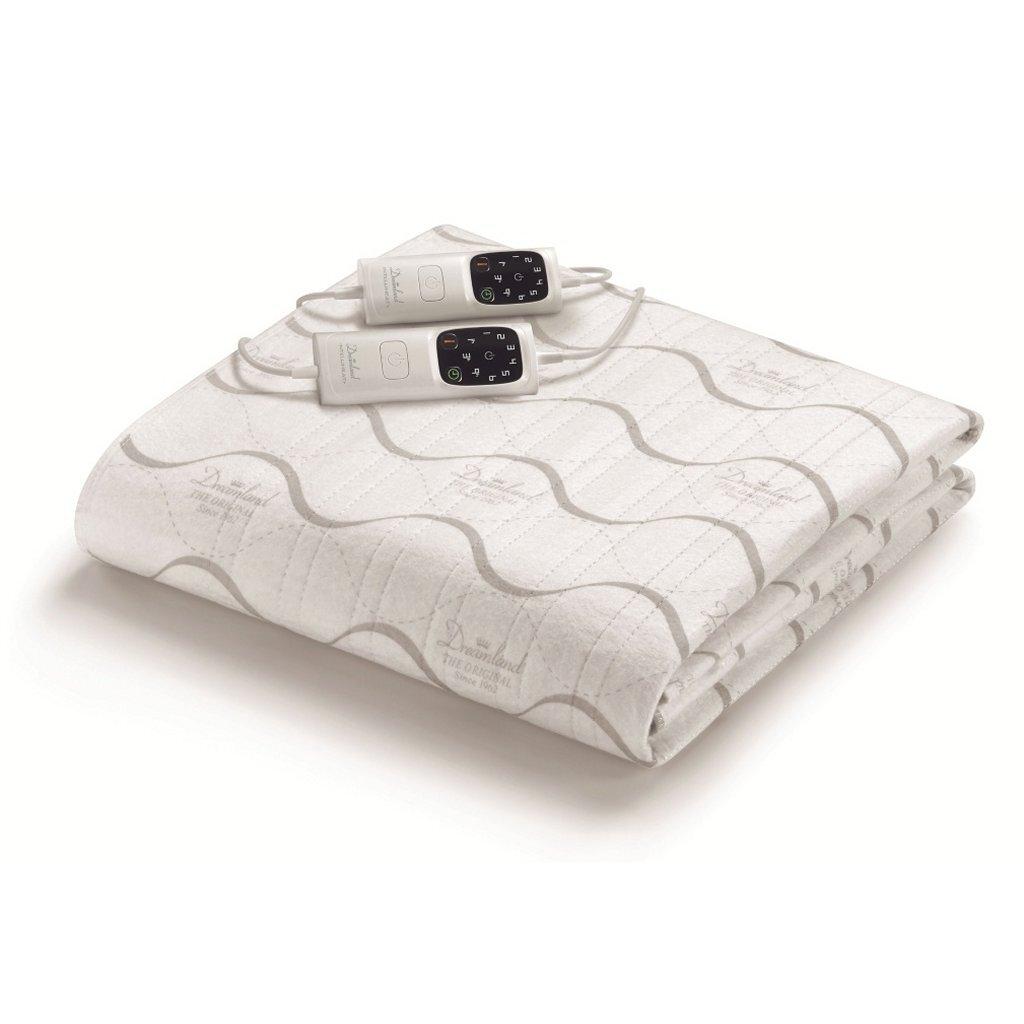 dreamland 16722 elektrische deken 150x137 cm wit/grijs