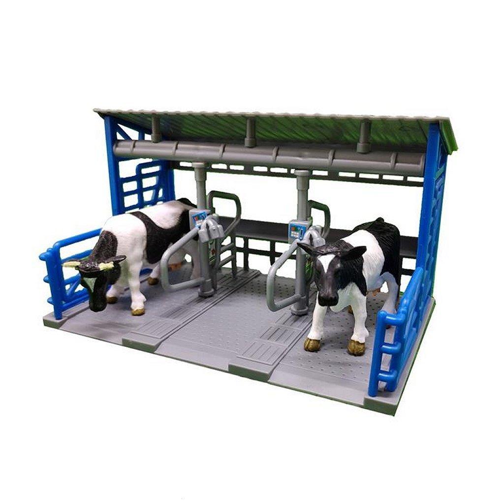 dutch farm melkstation met 2 koeien