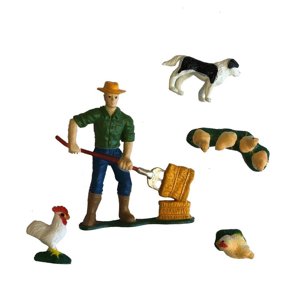dutch farm boer met boerderijdieren 5-delig