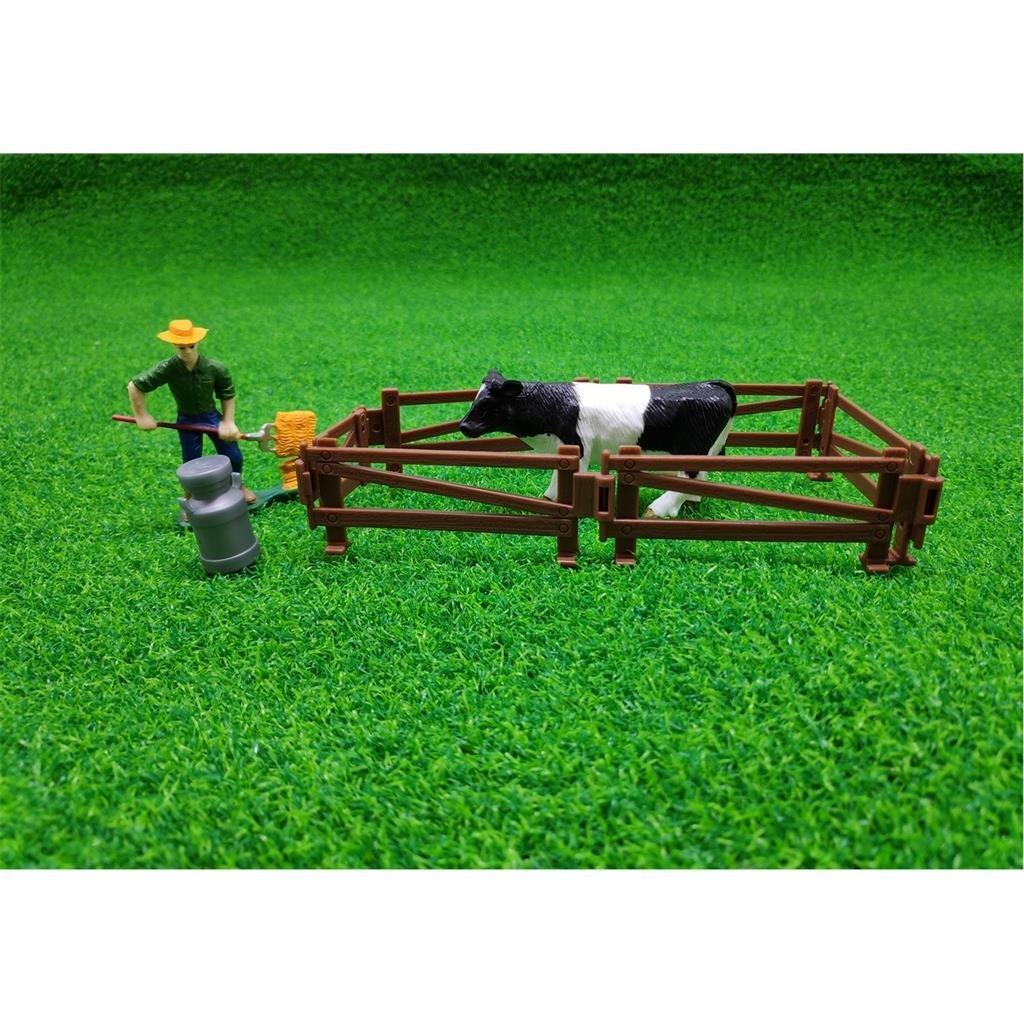 dutch farm boer met koe en hekken 9-delig