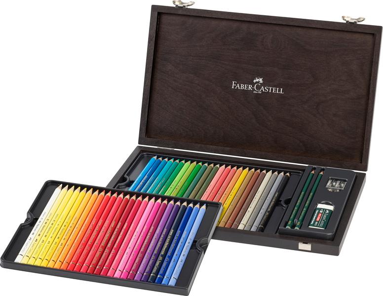 faber castell fc-110006 kleurpotlood faber-castell polychromos assorti kist 48 stuks met accessoires