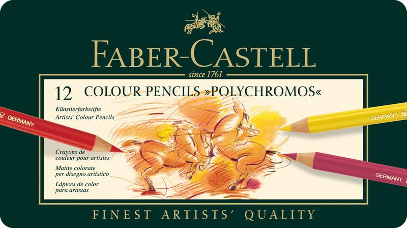 faber castell fc-110012 kleurpotlood polychromos 3,8mm kerndikte etui ã 12 stuks
