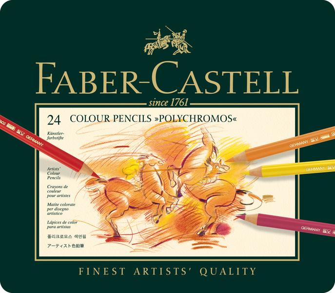 faber castell fc-110024 kleurpotlood polychromos etui ã 24 stuks