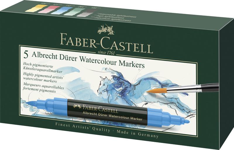 faber castell 5 aquarel markers albrecht dürer doos 5 stuks