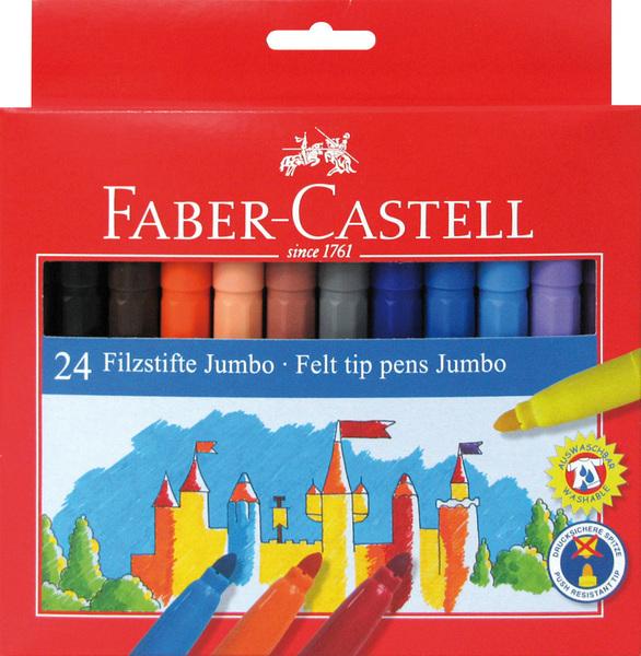 faber castell 24 jumbo viltstiften doos 6 stuks