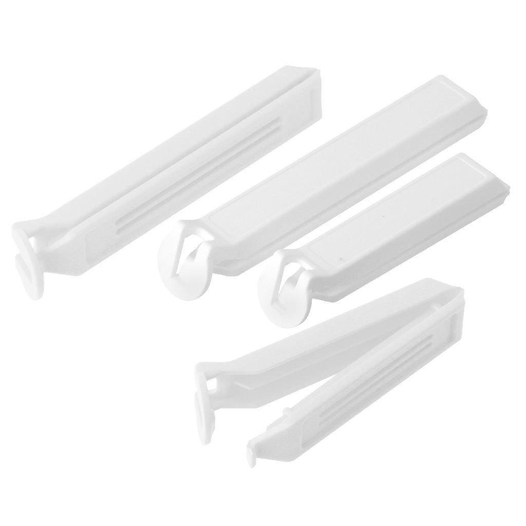 fackelmann basic vershoudklem 11 en 8 cm wit 4 stuks