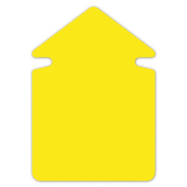 Folia FO-666-911 Aktie/reclamesymbolen 12cm Pijl Krimp A 20 Vel Neongeel
