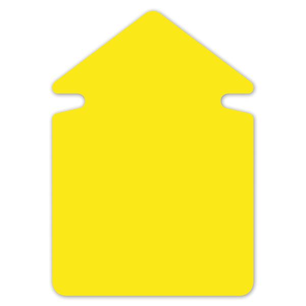 Folia FO-667-911 Aktie/reclamesymbolen 24cm Pijl Krimp A 20 Vel Neongeel