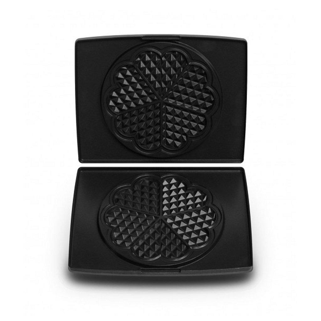 fritel 142355 bakplaten hartjesvorm aluminium/zwart