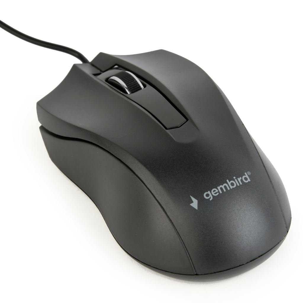 gembird gmb muis bedraad zwart 3b-01