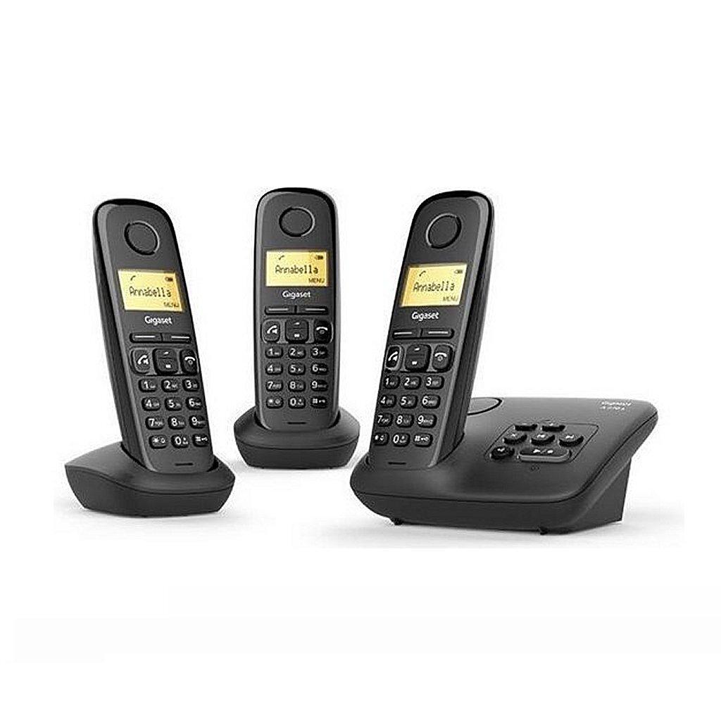 gigaset a270a trio dect telefoon + antwoordapparaat zwart
