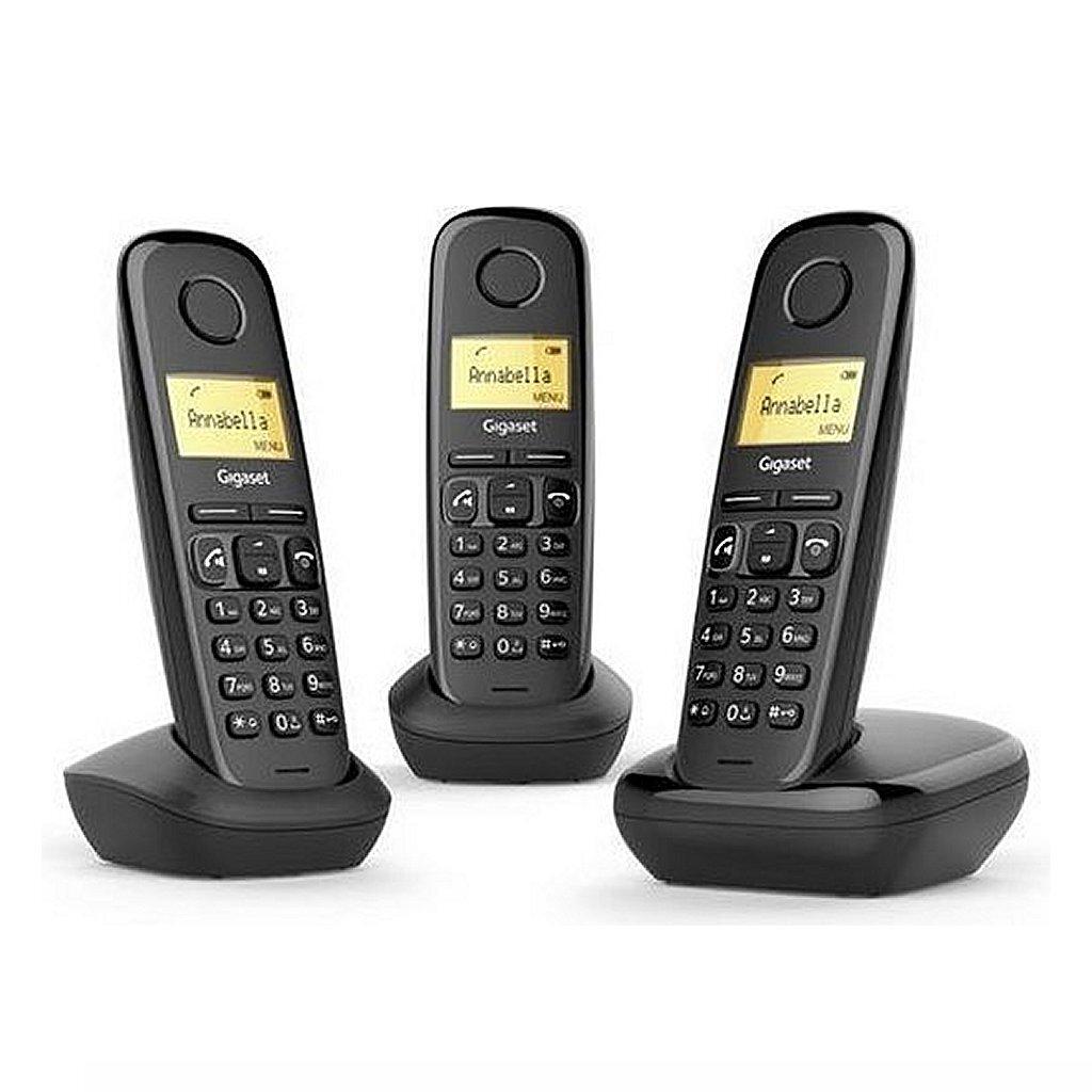 gigaset a270 trio dect telefoon zwart