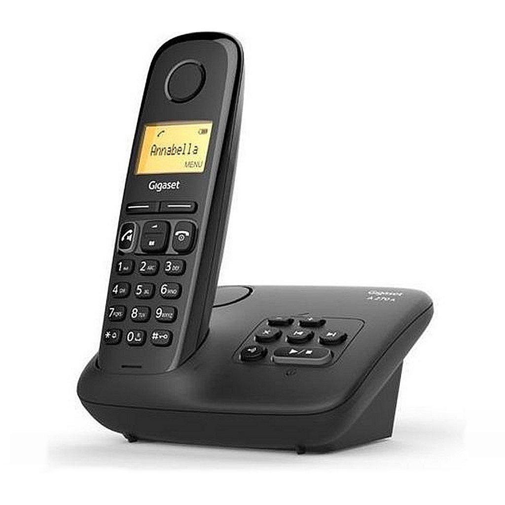 gigaset a270a dect telefoon + antwoordapparaat zwart