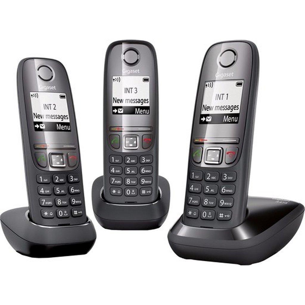 gigaset a475 trio dect telefoon zwart